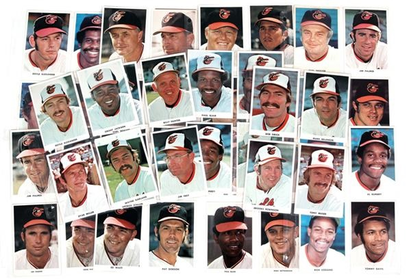 1970 Baltimore Orioles Team Issue Color Photos (50)
