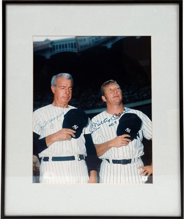 Joe DiMaggio and Mickey Mantle Signed Photo (11