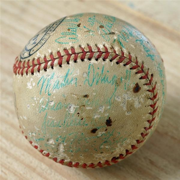 1946-47 Cienfuegos Team Signed Baseball with Martin Dihigo