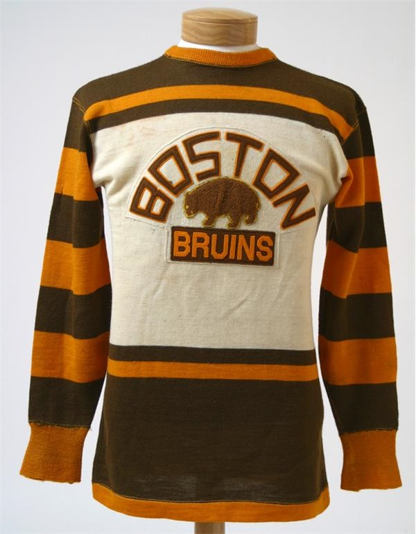 online retailer 0964f 86f8d Late 1920s Harry Oliver Game Worn Boston Bruins Wool Sweater