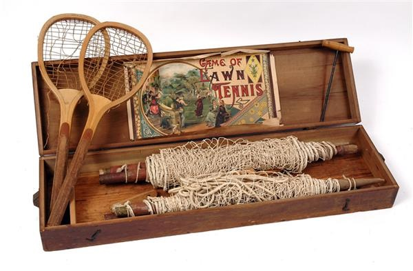 Turn of the Century Lawn Tennis Set in Original Box