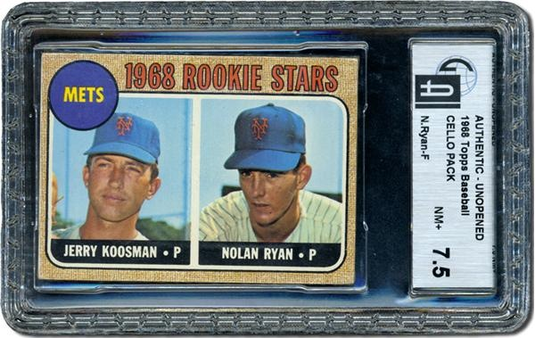 1968 Topps Cello Pack With Nolan Ryan Rookie On Top Gai 75