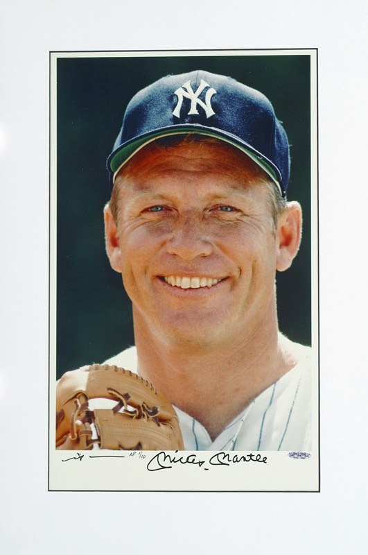 Mickey Mantle Signed Photo by Neil Leifer