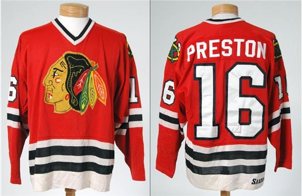 huge selection of f85a0 8f3ae 1980-81 Rich Preston Chicago Blackhawks Game Worn Jersey