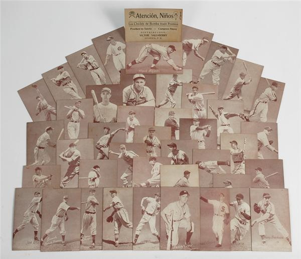 Previously Uncatalogued 1947 Exhibit Cards with Bomba Gum Advertising Backs (45)