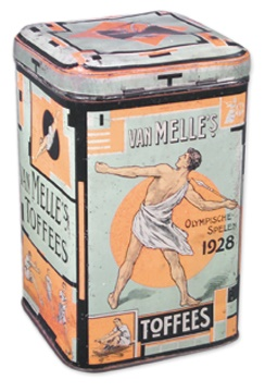 1928 Summer Olympics Toffee Tin (10x6x6