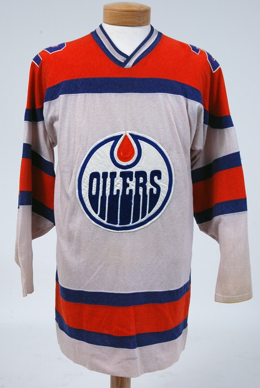 innovative design fffd8 1d436 Roger Cote 1st Year Alberta Oilers Jersey (name change to ...