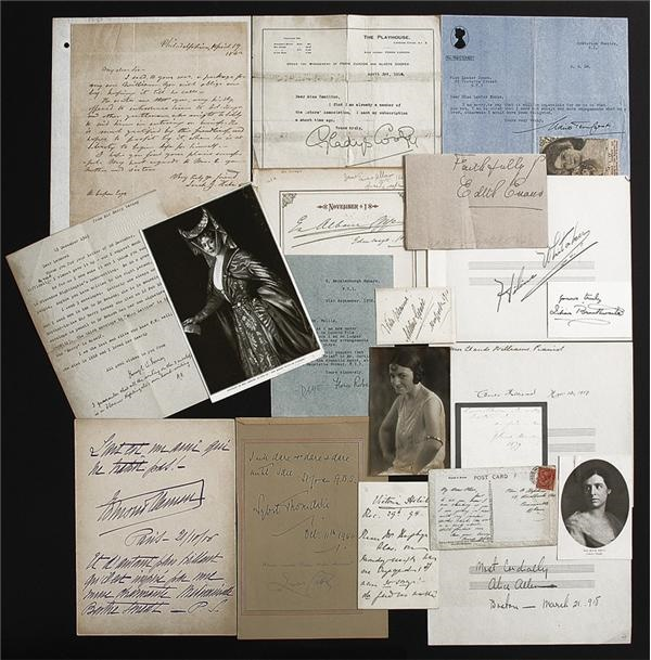 English and French Actress Autograph Collection
