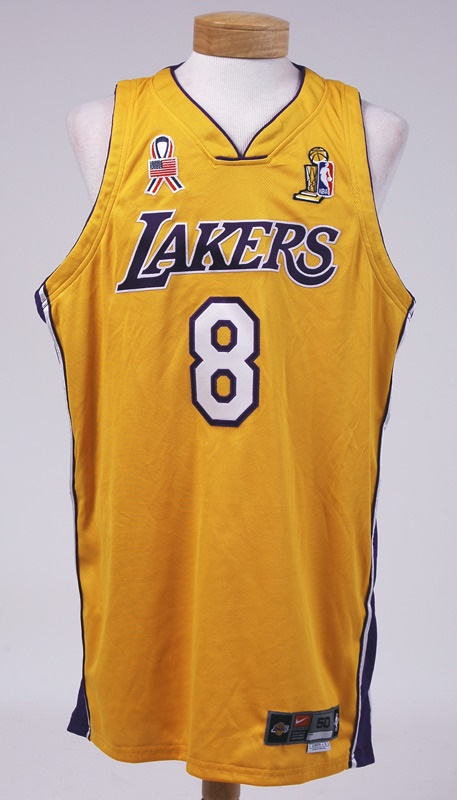buy online 003f1 19e79 2002 Kobe Bryant Game Worn NBA Finals Jersey