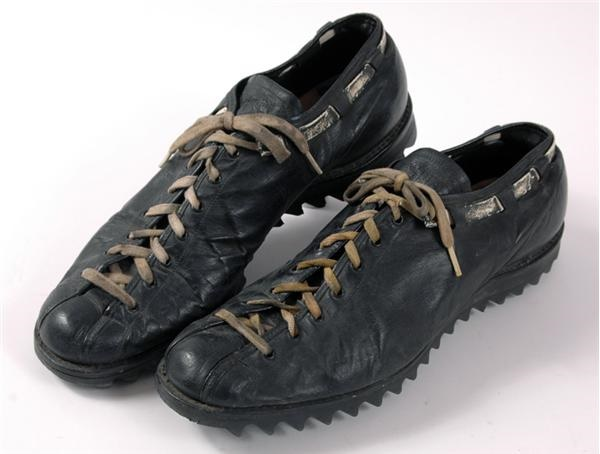 1969 Forrest Gregg Game Worn And Autographed Football Shoes