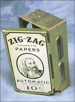 1930's Zig Zag Cigarette Paper Dispenser (2x3x6