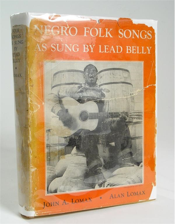 1936 Negro Folk Songs as Sung by Lead Belly by Lomax with scarce dj