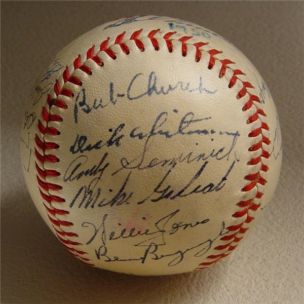 1950 NL Champion Philadelphia Phillies Team Signed Baseball