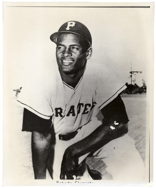 Clemente Early Pirates Publicity Photo & Negative