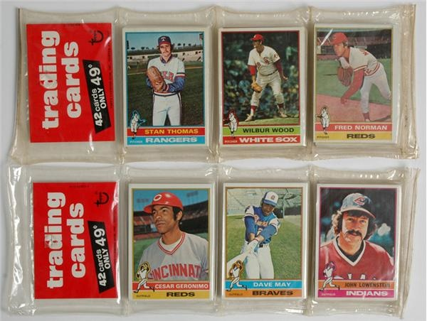 1976 Topps Baseball Rack Packs (2)