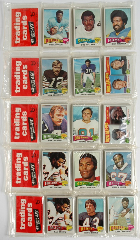 1975 Topps Football Rack Packs (5)