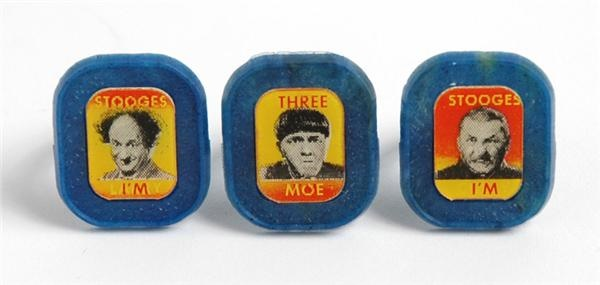 Three Stooges Flasher Rings (3)