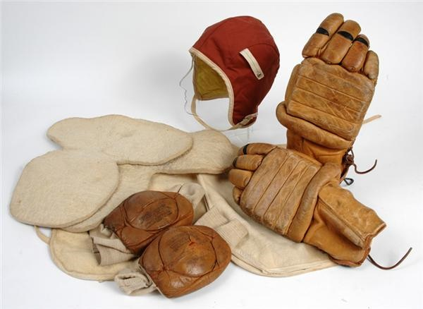 Collection of Vintage Hockey Equipment