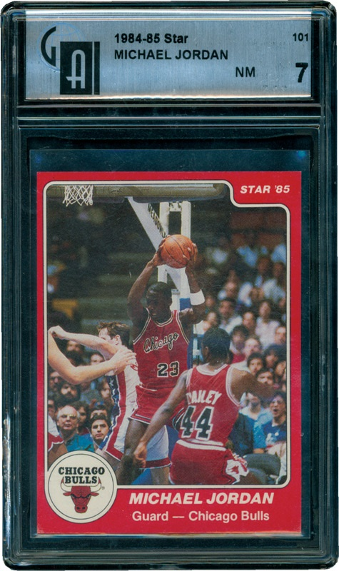 1984-85 Star Michael Jordan Rookie GAI 7
