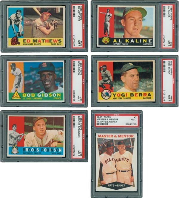 1960 Topps Hall of Famers All Graded PSA 7 (6)