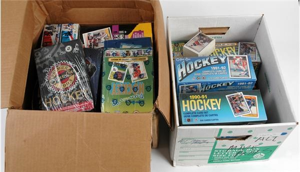 Huge Collection of Modern Unopened Hockey Sets and Boxes (30)