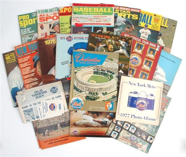 New York Mets Publication Collection with 1964 Shea Stadium Dedication (20+)