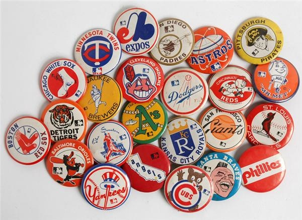 1970s Complete Baseball Pin Set (24)