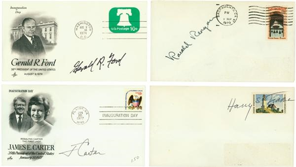 Presidential Signed 1st Day Cover Collection (4)
