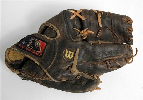 1990-93 Carlos Baerga Game Used Glove