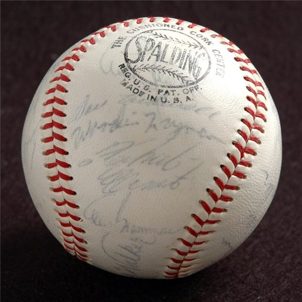 1966 Pittsburgh Pirates Team Autographed Baseball with Clemente