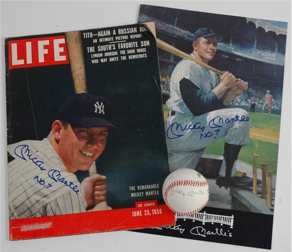 Mickey Mantle Autograph Collection (3)