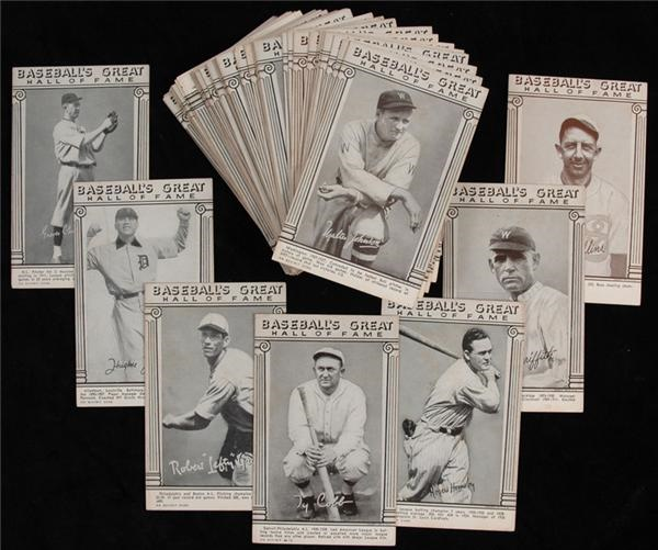 1948 Baseball Great Exhibits Near Complete Set