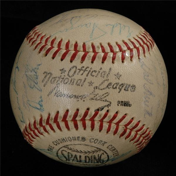 1959 NL All-Stars Signed Baseball
