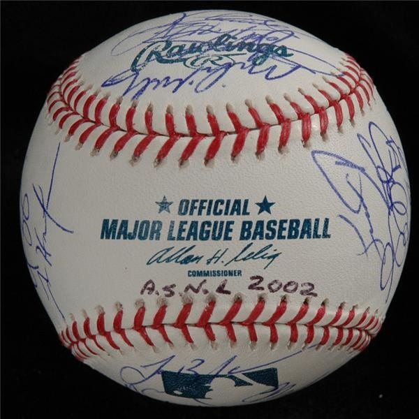 2002 NL All-Stars Signed Baseball