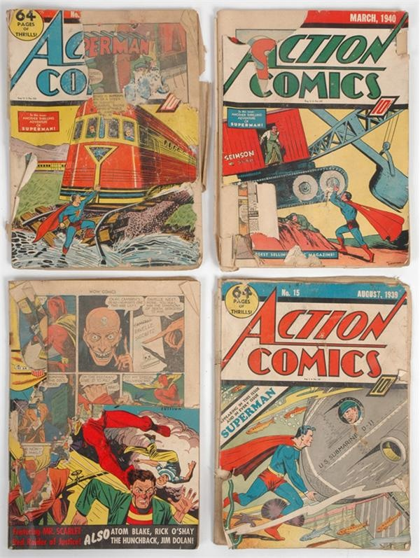 Lot of Early Superman Comics - Low Grade