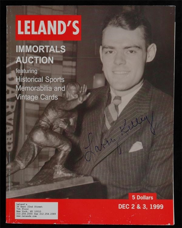Rare Larry Kelley Signed Heisman Trophy Auction Catalogue