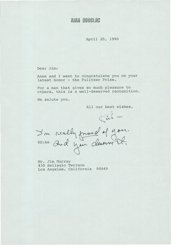 Jim Murray Letter Collection - July 2005 - Fredo