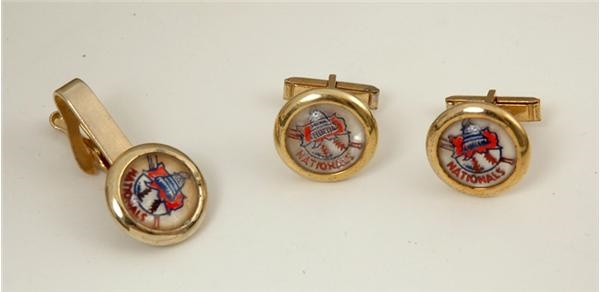 1950's Washington Nationals Tie Clasp & Cuff Links