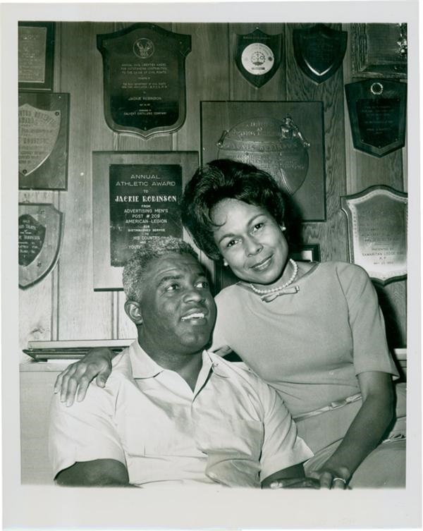 Jackie & Rachael Robinson 1962 Wire Photo