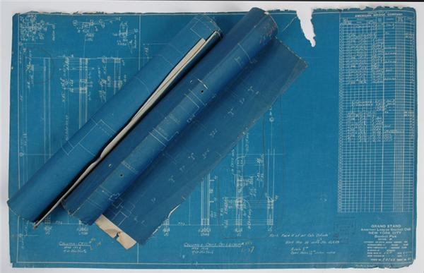 Blue Prints for Old Yankee Stadium