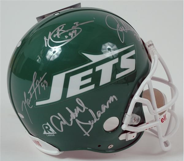 1980's New York Jets Sack Exchange Autographed Helmet