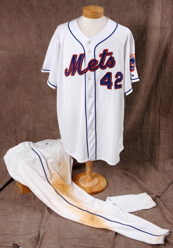 2003 Mo Vaughn Game Worn Mets Home Jersey And Pants