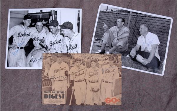 Hank Greenberg Autograph Collection Of Four