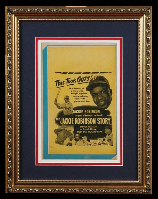 Jackie Robinson Story (1948) Window Card