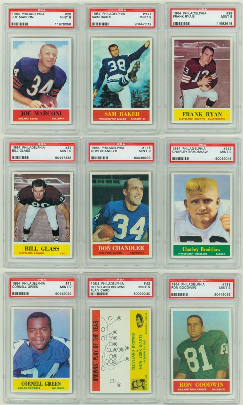 1964 Philadelphia Football PSA 9 Collection (9)