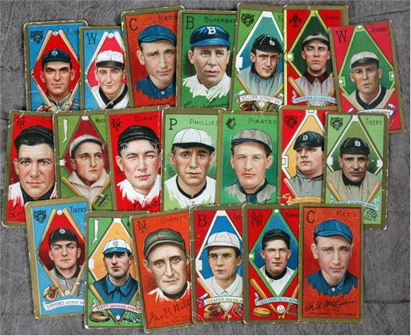 Collection of (23) T205 Tobacco Cards with Speaker