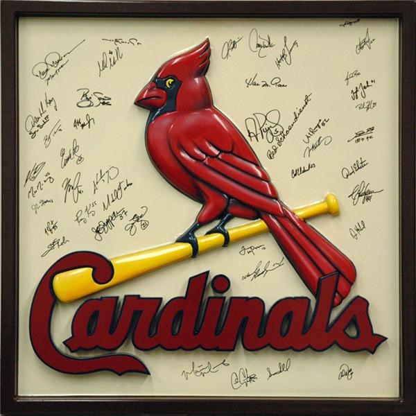 Three Dimensional Cardinals Logo  Signed by the 2005 Team