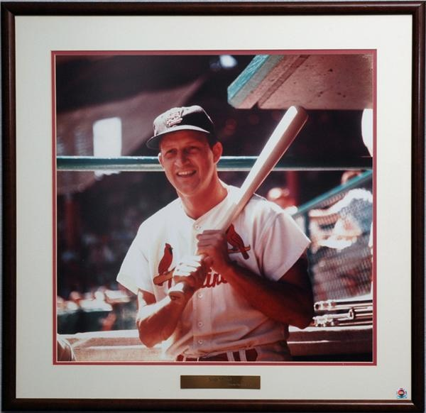 Stan Musial Framed Photograph