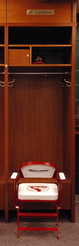 2005 Cy Young winner Chris Carpenter's Cardinals Locker  Signed with Nameplate and Chair