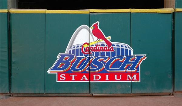 "Wagon Gate ""Busch Stadium"" Sign"